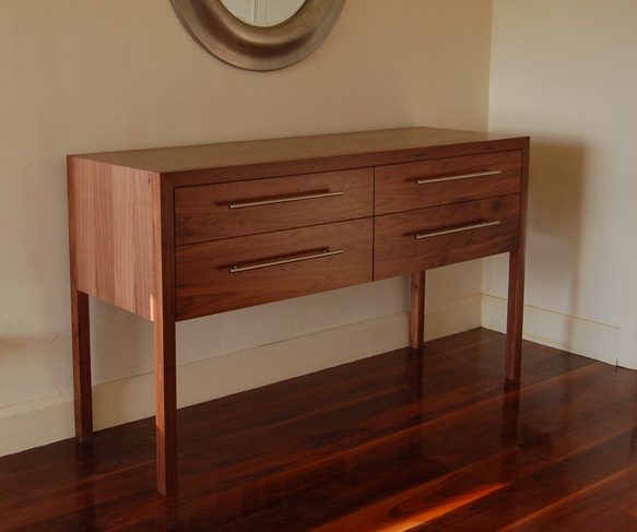 4 Drawer Walnut Sideboard